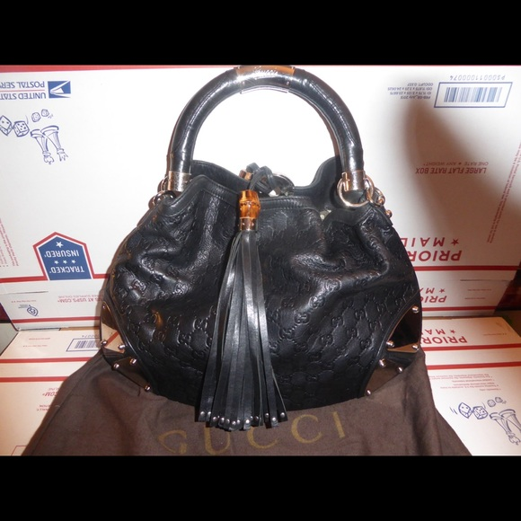 80ab3233e6e Gucci Handbags - Authentic Gucci Indy Guccissima Bag 177139 203998